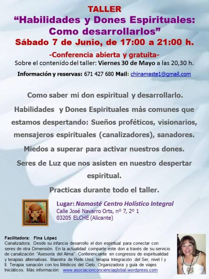 taller Habilidades y dones espirituales, Centro namaste, Elche