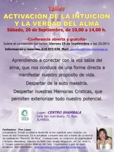 Taller intuicion, Almeria, septiembre 2014