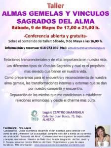 Taller almas gemelas y vinculos sagrados, Almeria, Mayo 2015