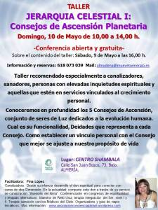 Taller Jerarquia Celestial I, Consejos de Ascension Planetaria, Almeria