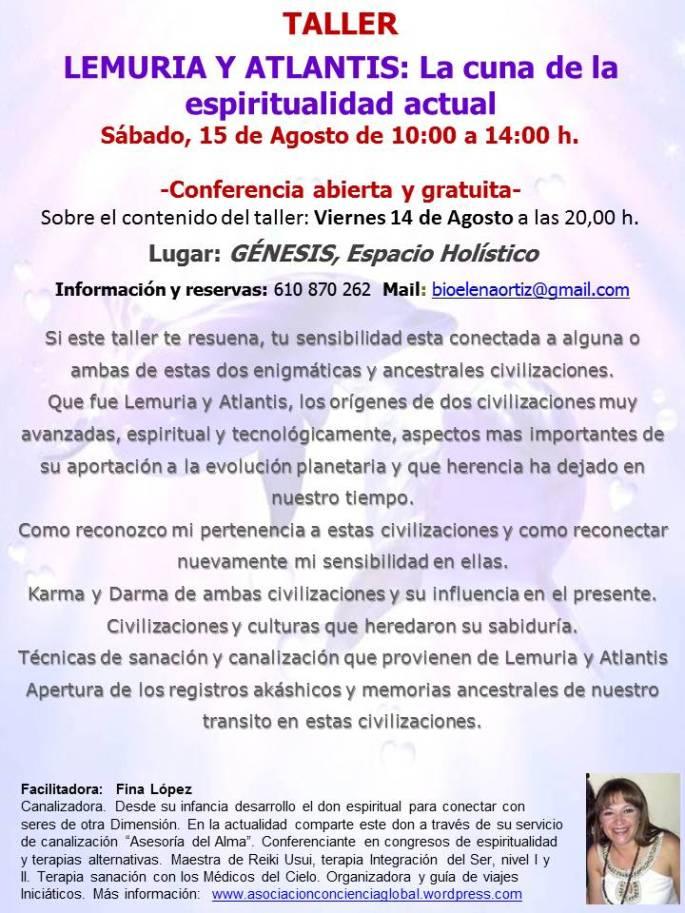 Taller Lemuria y Atlantis, Almeria, Agosto 2015