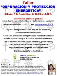 Taller depuración y proteccion energetica, Almería Noviembre 2015