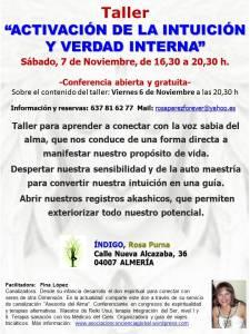 Taller intuicion, Almeria noviembre 2015